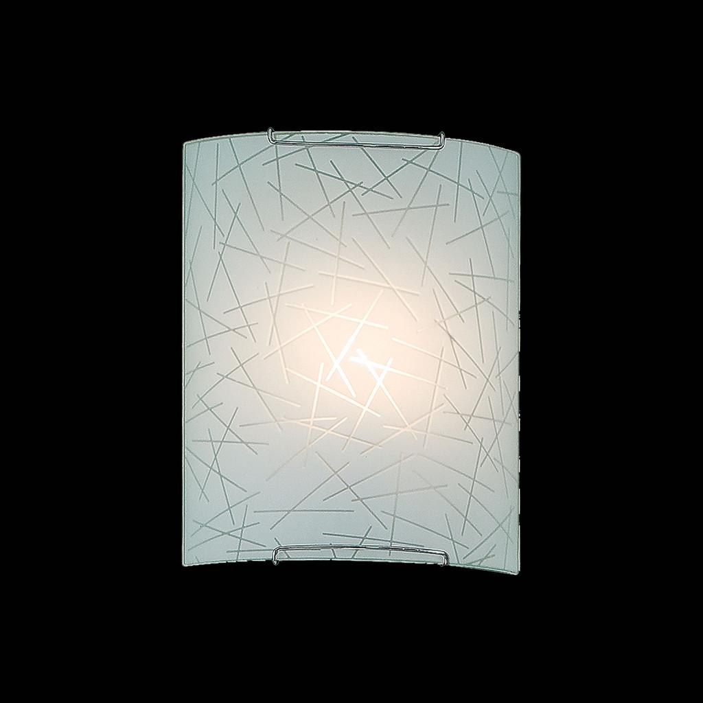Настенный светильник Citilux Крона CL921061, 1xE27x100W, хром, белый, металл, стекло - фото 2