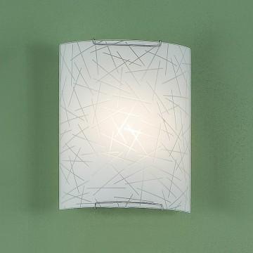 Настенный светильник Citilux Крона CL921061, 1xE27x100W, хром, белый, металл, стекло - миниатюра 3