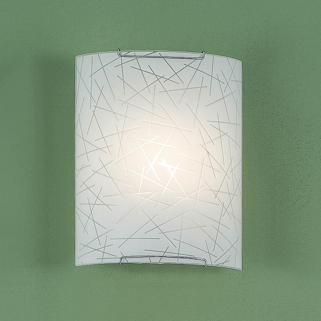 Настенный светильник Citilux Крона CL921061, 1xE27x100W, хром, белый, металл, стекло - фото 3