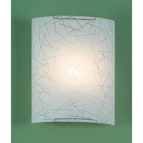 Настенный светильник Citilux Крона CL921061W, 1xE27x100W, хром, белый, металл, стекло