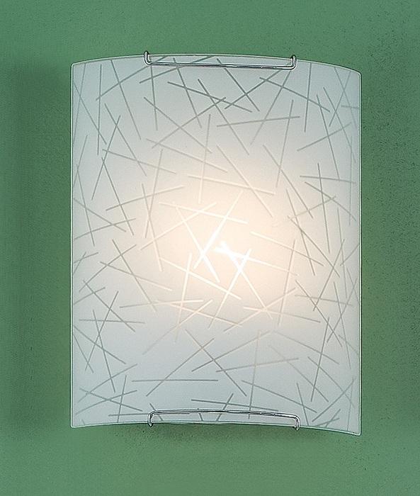 Настенный светильник Citilux Крона CL921061W, 1xE27x100W, хром, белый, металл, стекло - фото 1