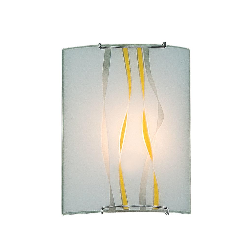 Настенный светильник Citilux Ленты CL921071, 1xE27x100W, хром, желтый, металл, стекло - фото 1