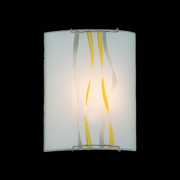Настенный светильник Citilux Ленты CL921071, 1xE27x100W, хром, желтый, металл, стекло - миниатюра 2
