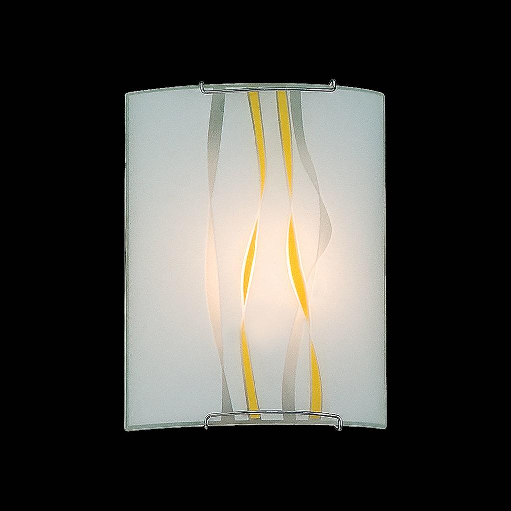 Настенный светильник Citilux Ленты CL921071, 1xE27x100W, хром, желтый, металл, стекло - фото 2