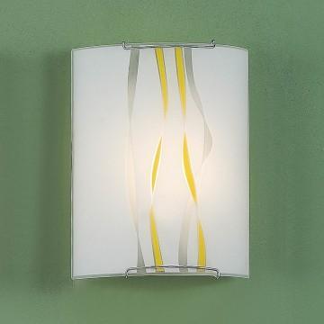 Настенный светильник Citilux Ленты CL921071, 1xE27x100W, хром, желтый, металл, стекло - миниатюра 3