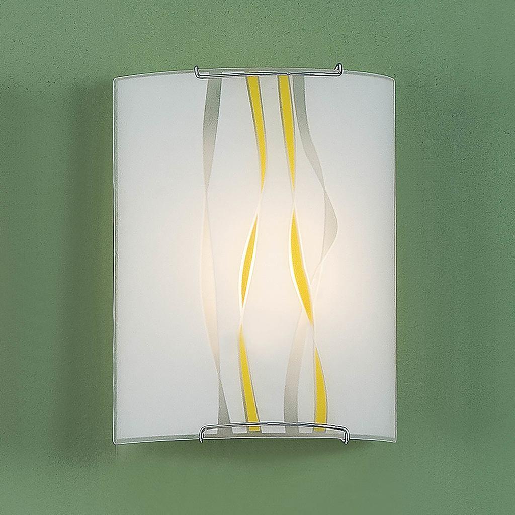 Настенный светильник Citilux Ленты CL921071, 1xE27x100W, хром, желтый, металл, стекло - фото 3