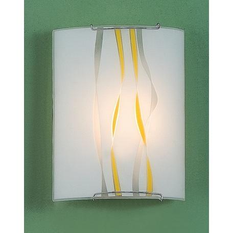 Настенный светильник Citilux Ленты CL921071W, 1xE27x100W, хром, белый, желтый, серый, металл, стекло