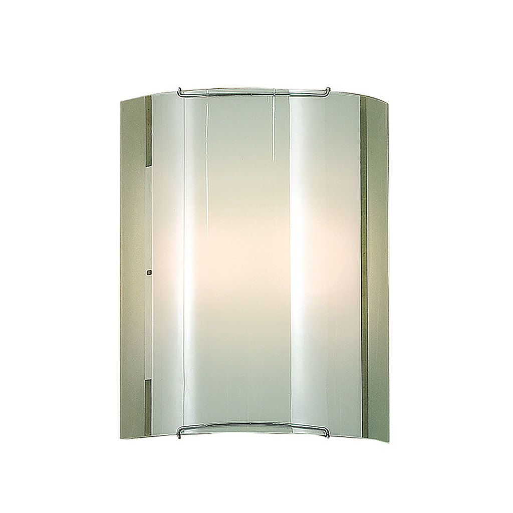 Настенный светильник Citilux Лайн CL921081, 1xE27x100W, хром, белый, металл, стекло - фото 1