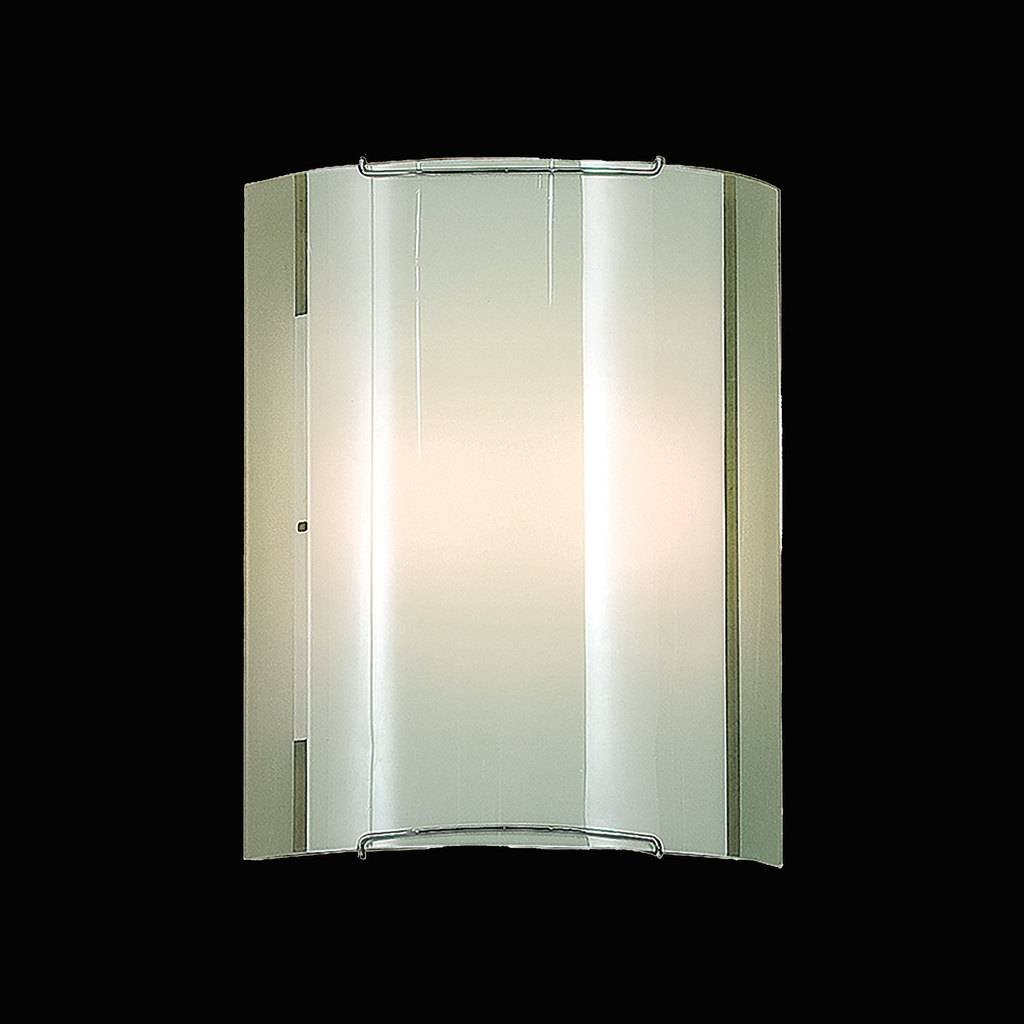 Настенный светильник Citilux Лайн CL921081, 1xE27x100W, хром, белый, металл, стекло - фото 2