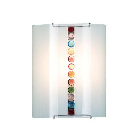 Настенный светильник Citilux Конфетти CL921302, 1xE27x100W, хром, разноцветный, металл, стекло