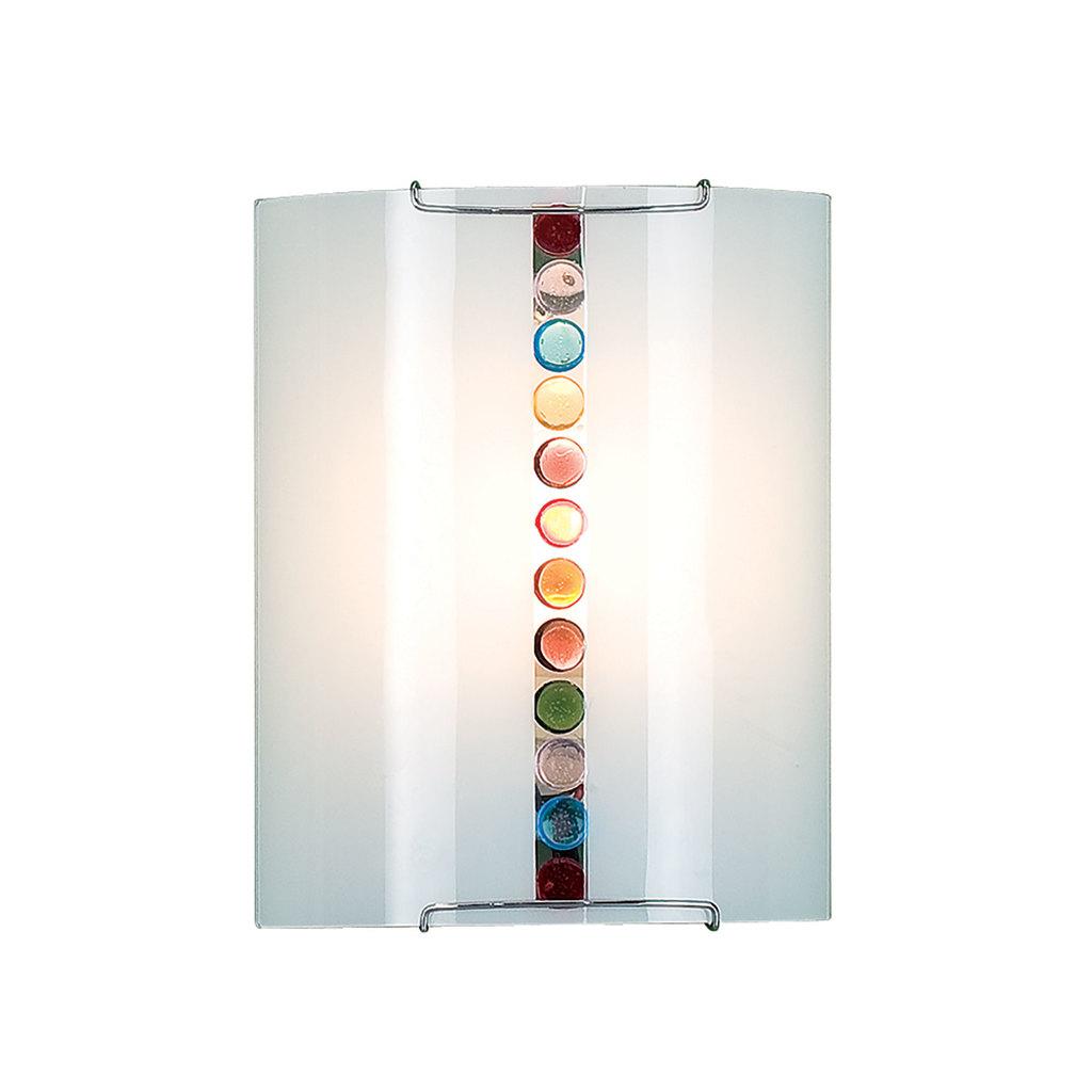 Настенный светильник Citilux Конфетти CL921302, 1xE27x100W, хром, разноцветный, металл, стекло - фото 1