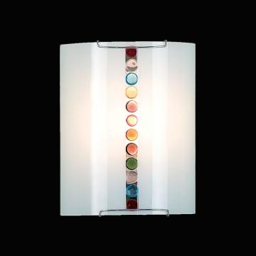 Настенный светильник Citilux Конфетти CL921302, 1xE27x100W, хром, разноцветный, металл, стекло - миниатюра 2