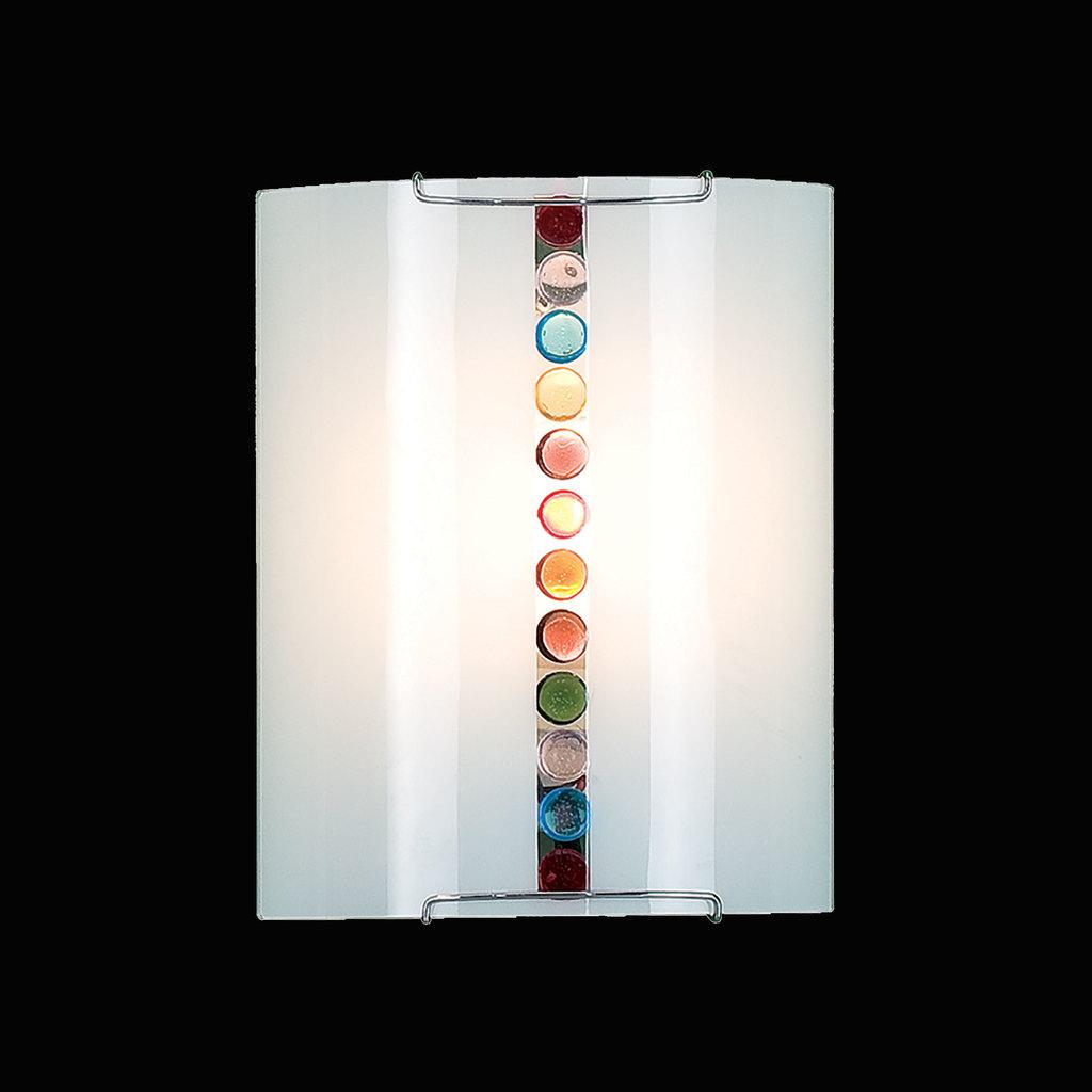 Настенный светильник Citilux Конфетти CL921302, 1xE27x100W, хром, разноцветный, металл, стекло - фото 2