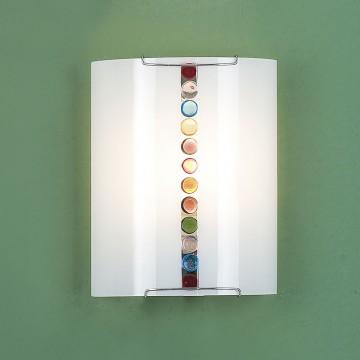 Настенный светильник Citilux Конфетти CL921302, 1xE27x100W, хром, разноцветный, металл, стекло - миниатюра 3