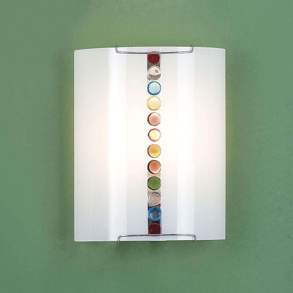 Настенный светильник Citilux Конфетти CL921302, 1xE27x100W, хром, разноцветный, металл, стекло - фото 3