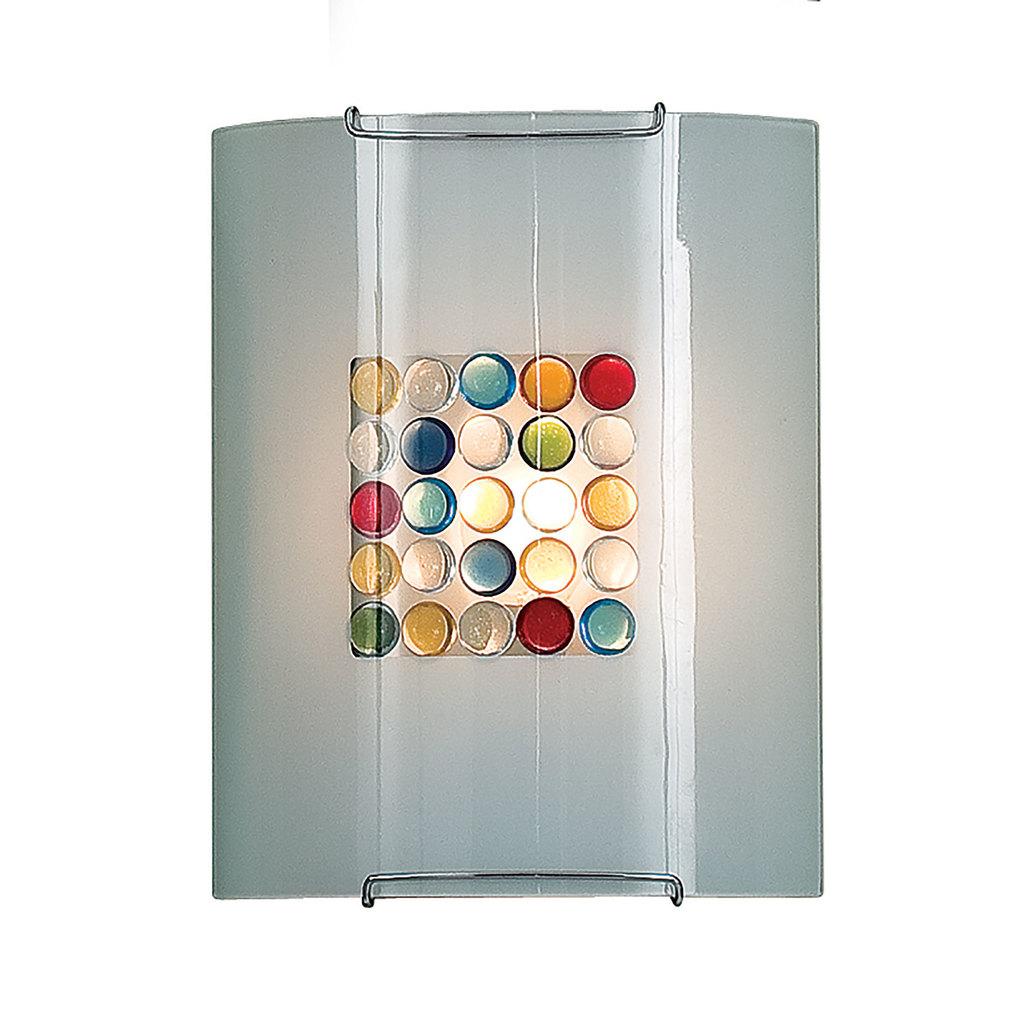 Настенный светильник Citilux Конфетти CL921311, 1xE27x100W, хром, разноцветный, металл, стекло - фото 1