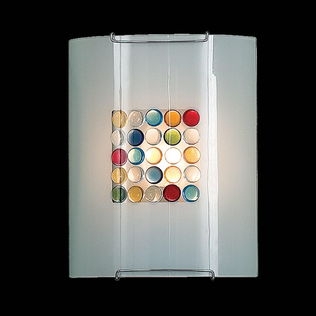 Настенный светильник Citilux Конфетти CL921311, 1xE27x100W, хром, разноцветный, металл, стекло - фото 2