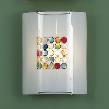 Настенный светильник Citilux Конфетти CL921311, 1xE27x100W, хром, разноцветный, металл, стекло - миниатюра 3