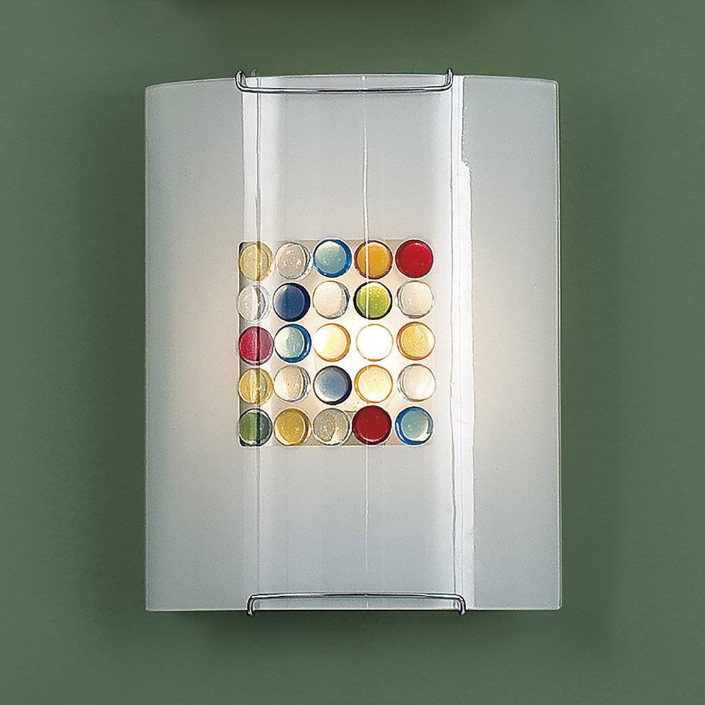 Настенный светильник Citilux Конфетти CL921311, 1xE27x100W, хром, разноцветный, металл, стекло - фото 3