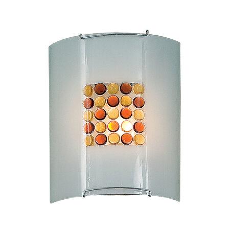 Настенный светильник Citilux Конфетти CL921312, 1xE27x100W, хром, оранжевый, металл, стекло