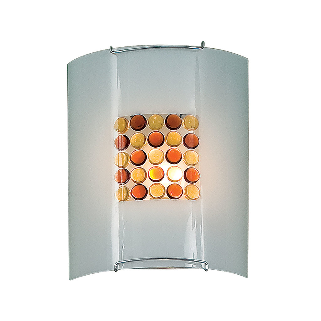 Настенный светильник Citilux Конфетти CL921312, 1xE27x100W, хром, оранжевый, металл, стекло - фото 1