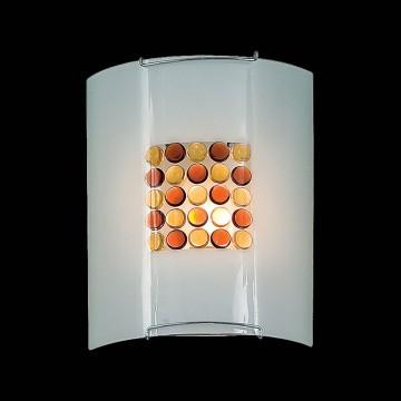 Настенный светильник Citilux Конфетти CL921312, 1xE27x100W, хром, оранжевый, металл, стекло - миниатюра 2