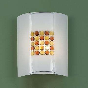 Настенный светильник Citilux Конфетти CL921312, 1xE27x100W, хром, оранжевый, металл, стекло - миниатюра 3
