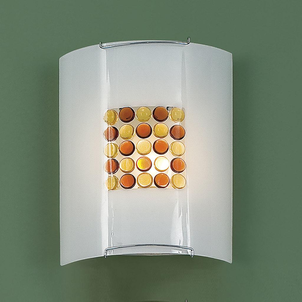 Настенный светильник Citilux Конфетти CL921312, 1xE27x100W, хром, оранжевый, металл, стекло - фото 3