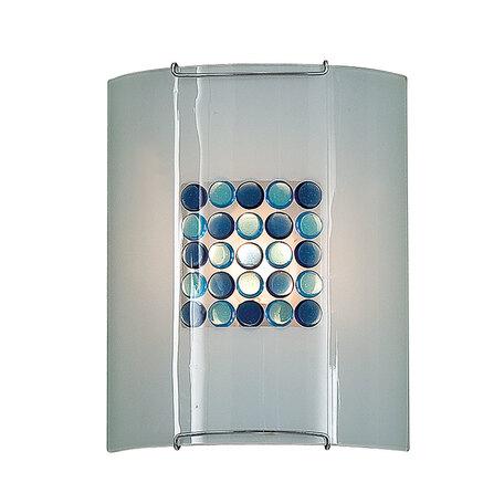 Настенный светильник Citilux Конфетти CL921313, 1xE27x100W, хром, синий, голубой, металл, стекло