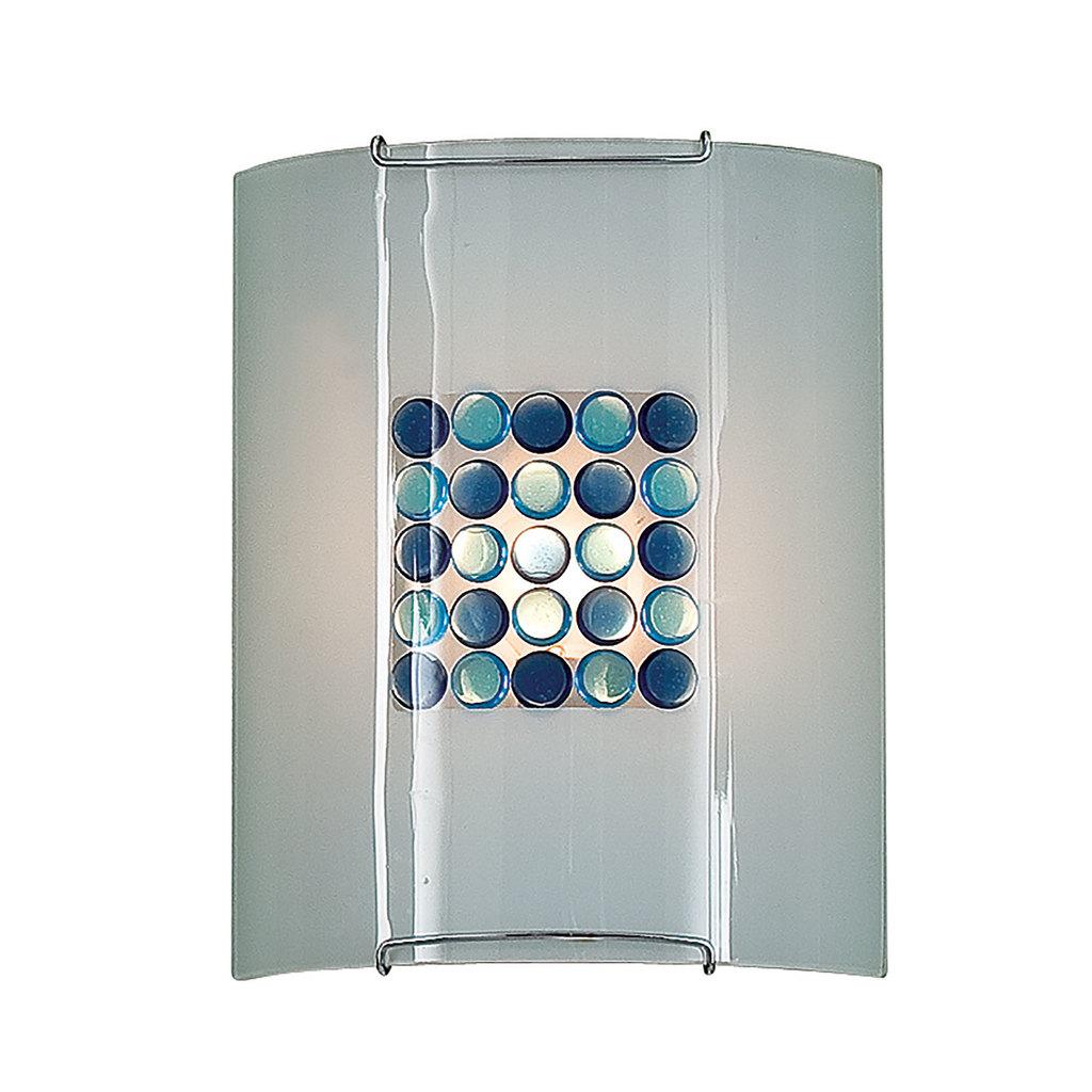 Настенный светильник Citilux Конфетти CL921313, 1xE27x100W, хром, синий, голубой, металл, стекло - фото 1