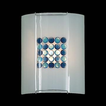 Настенный светильник Citilux Конфетти CL921313, 1xE27x100W, хром, синий, голубой, металл, стекло - миниатюра 2