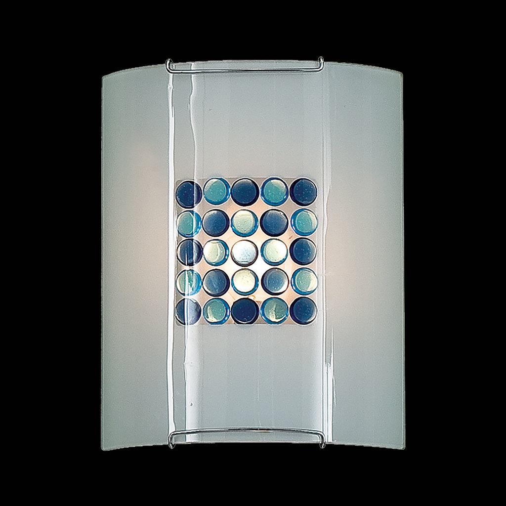Настенный светильник Citilux Конфетти CL921313, 1xE27x100W, хром, синий, голубой, металл, стекло - фото 2