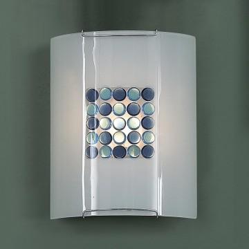 Настенный светильник Citilux Конфетти CL921313, 1xE27x100W, хром, синий, голубой, металл, стекло - миниатюра 3