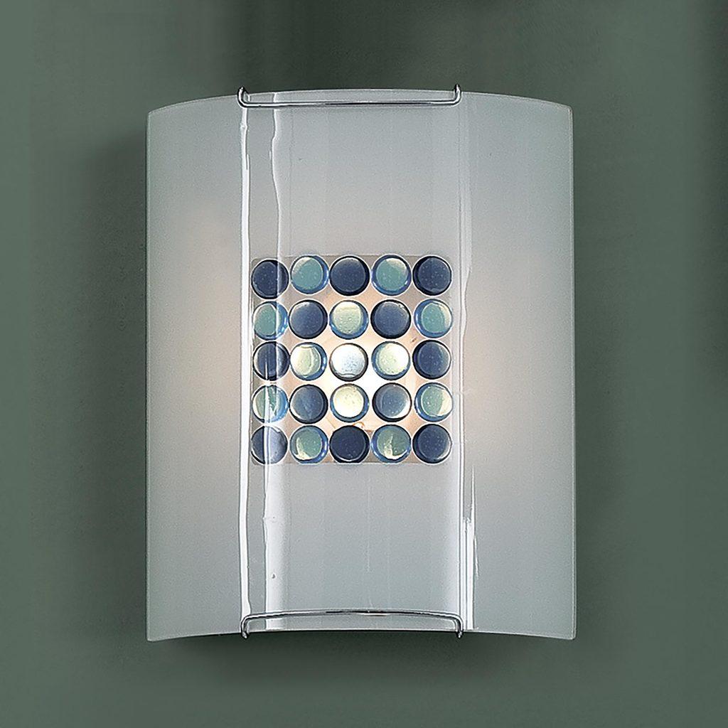 Настенный светильник Citilux Конфетти CL921313, 1xE27x100W, хром, синий, голубой, металл, стекло - фото 3