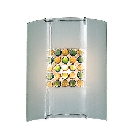 Настенный светильник Citilux Конфетти CL921314, 1xE27x100W, хром, зеленый, желтый, разноцветный, металл, стекло