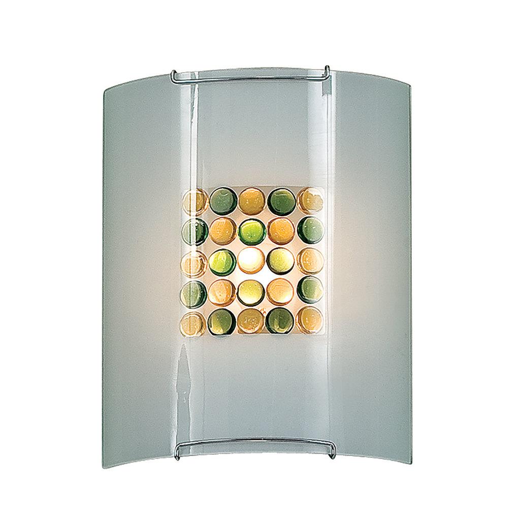 Настенный светильник Citilux Конфетти CL921314, 1xE27x100W, хром, зеленый, желтый, разноцветный, металл, стекло - фото 1