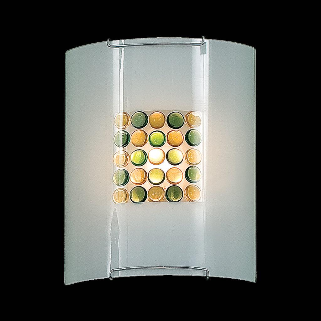 Настенный светильник Citilux Конфетти CL921314, 1xE27x100W, хром, зеленый, желтый, разноцветный, металл, стекло - фото 2