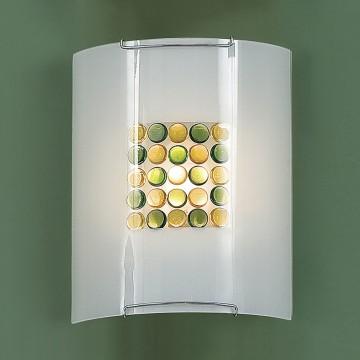 Настенный светильник Citilux Конфетти CL921314, 1xE27x100W, хром, зеленый, желтый, разноцветный, металл, стекло - миниатюра 3