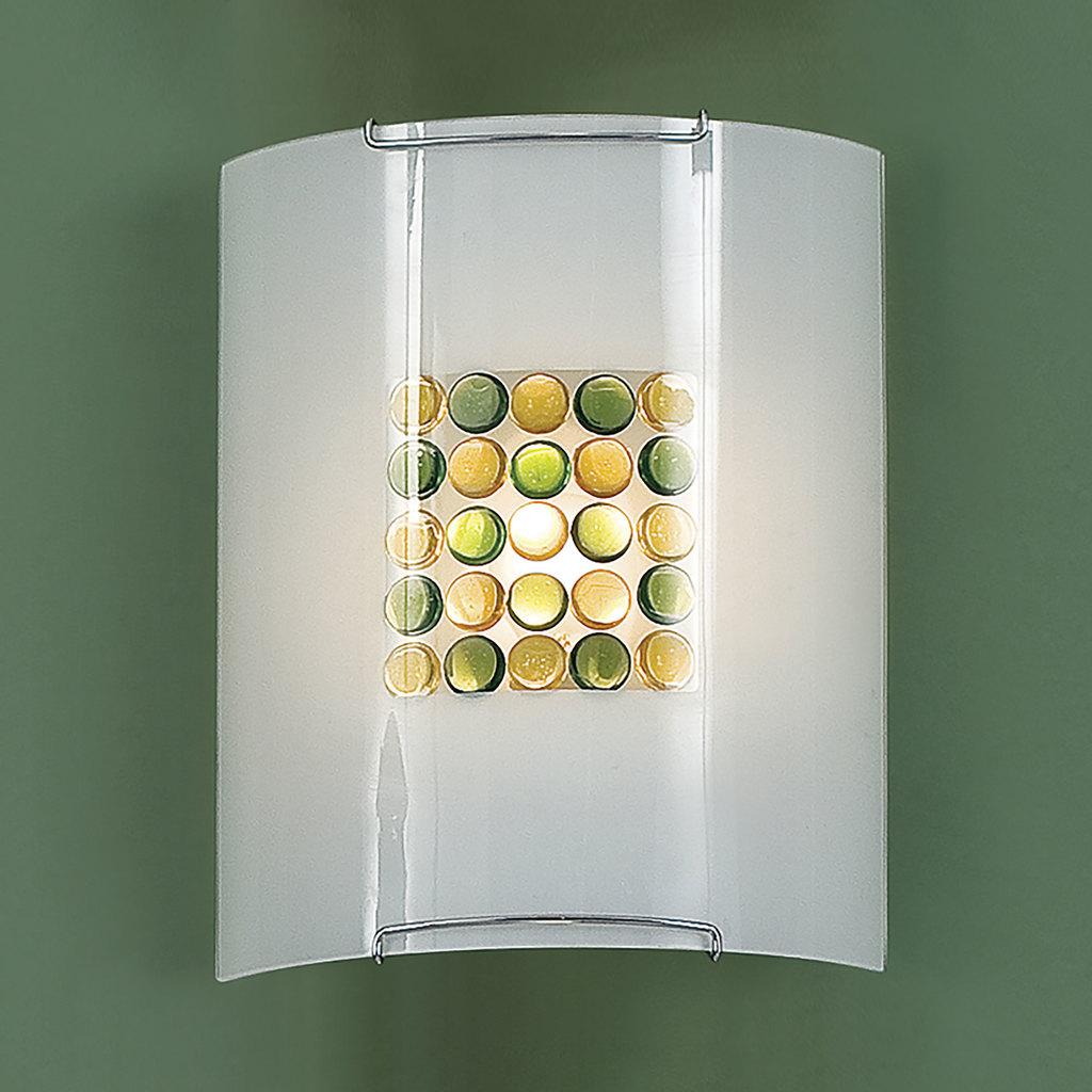 Настенный светильник Citilux Конфетти CL921314, 1xE27x100W, хром, зеленый, желтый, разноцветный, металл, стекло - фото 3