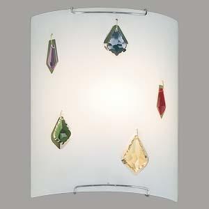 Настенный светильник Citilux Оникс CL921321, 1xE27x100W, хром, разноцветный, металл, стекло - фото 1
