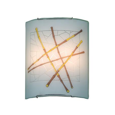 Настенный светильник Citilux Бамбук CL922011, 2xE27x100W, хром, разноцветный, металл, стекло - миниатюра 1