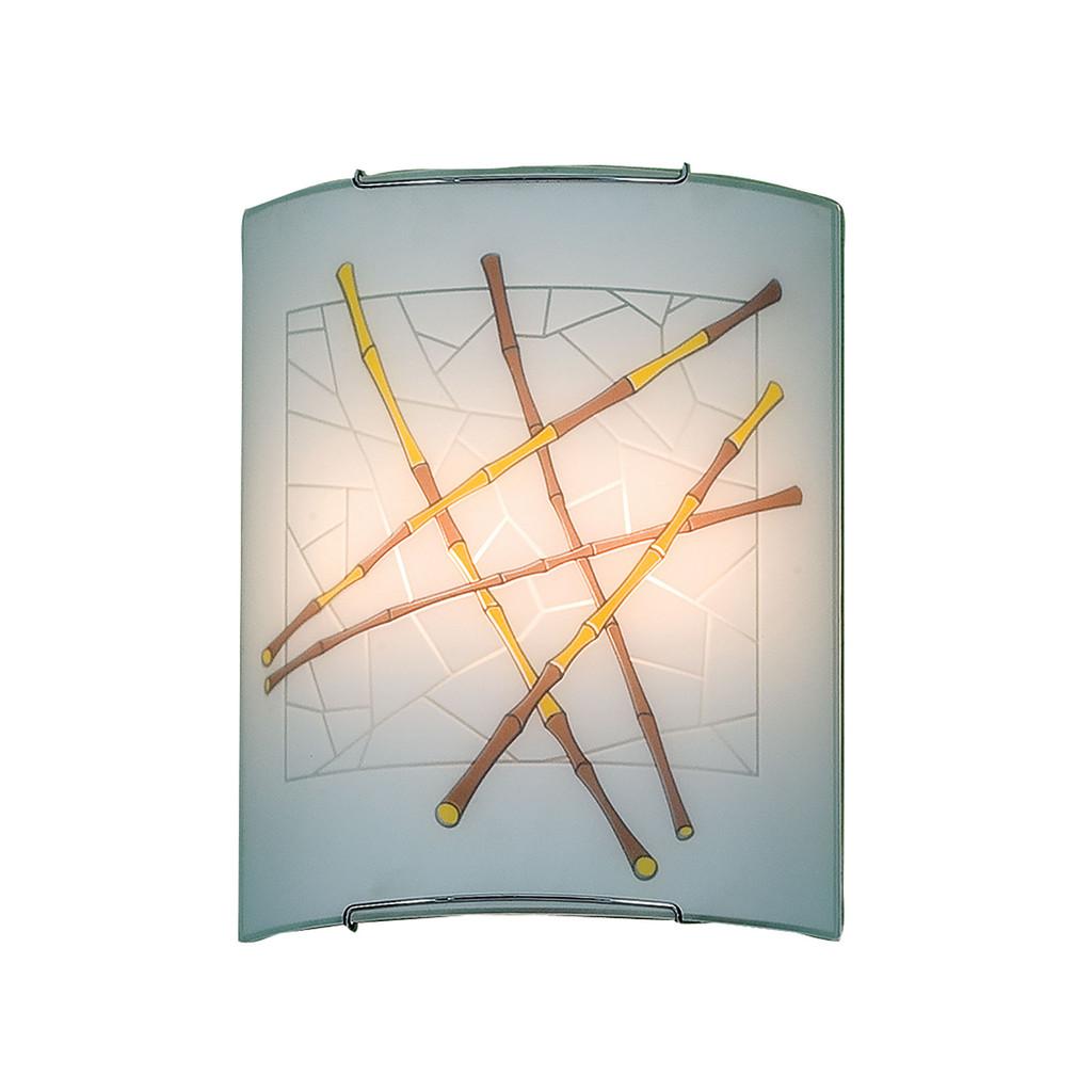 Настенный светильник Citilux Бамбук CL922011, 2xE27x100W, хром, разноцветный, металл, стекло - фото 1