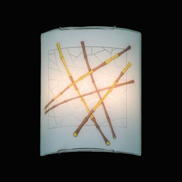Настенный светильник Citilux Бамбук CL922011, 2xE27x100W, хром, разноцветный, металл, стекло - миниатюра 2