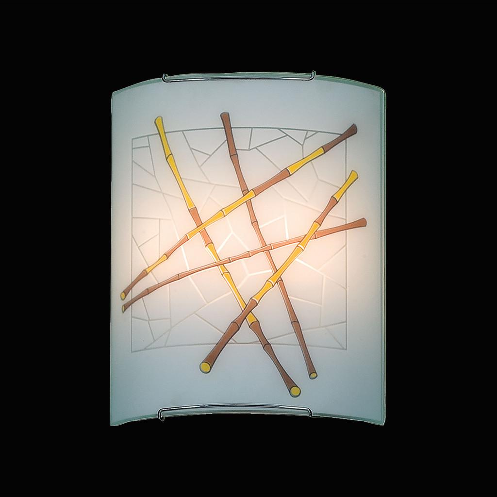 Настенный светильник Citilux Бамбук CL922011, 2xE27x100W, хром, разноцветный, металл, стекло - фото 2