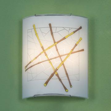 Настенный светильник Citilux Бамбук CL922011, 2xE27x100W, хром, разноцветный, металл, стекло - миниатюра 3