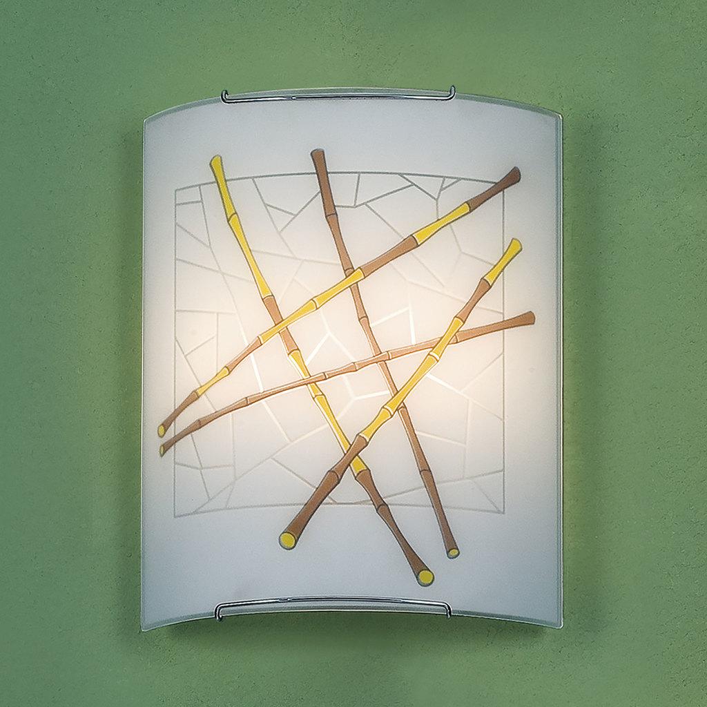 Настенный светильник Citilux Бамбук CL922011, 2xE27x100W, хром, разноцветный, металл, стекло - фото 3