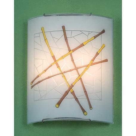 Настенный светильник Citilux Бамбук CL922011W, 2xE27x100W, хром, разноцветный, металл, стекло