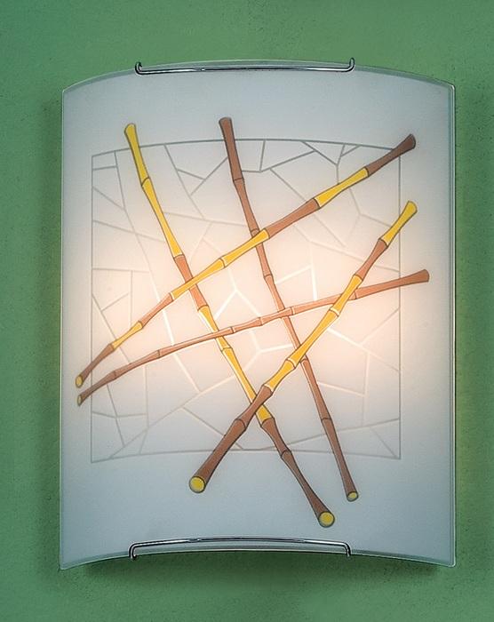 Настенный светильник Citilux Бамбук CL922011W, 2xE27x100W, хром, разноцветный, металл, стекло - фото 1