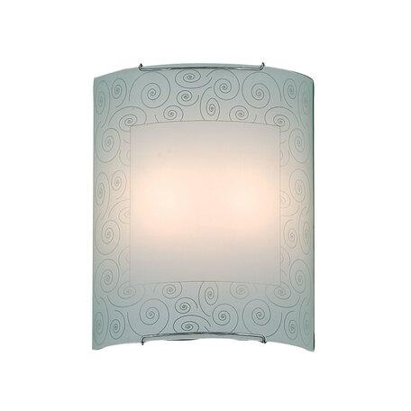Настенный светильник Citilux Спирали CL922012, 2xE27x100W, хром, белый, металл, стекло - миниатюра 1