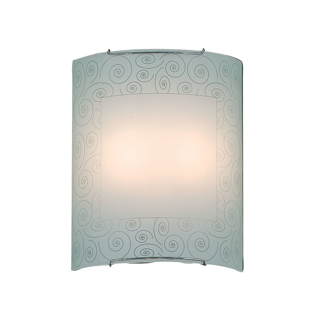 Настенный светильник Citilux Спирали CL922012, 2xE27x100W, хром, белый, металл, стекло - фото 1